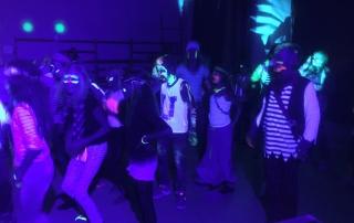 Piraten disco met blacklight